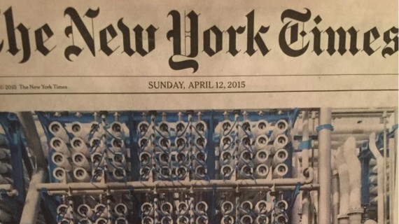 Protec Arisawa on the cover of The New York Times